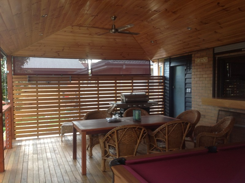 timber lined alfresco
