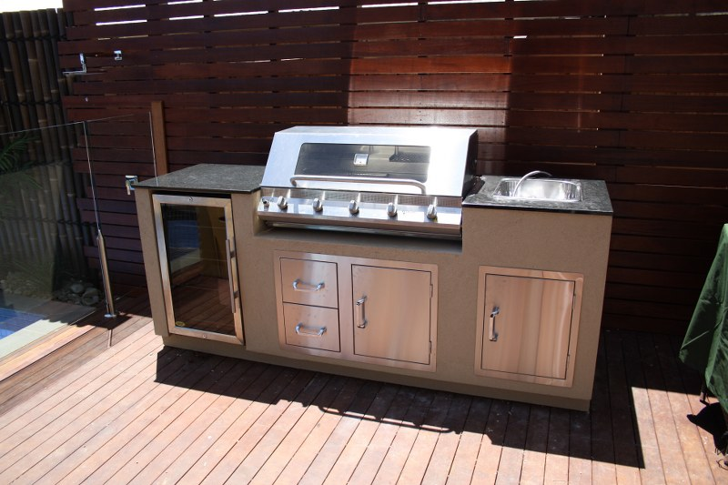 bbq island stainless steel doors