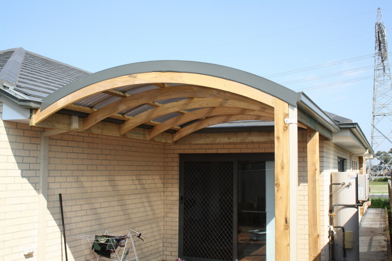 curved roof polycarbonate. curved pergola - Curved Roof Verandah Designs