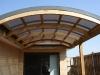 curved timber pergola