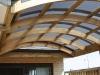 cureved roof framework