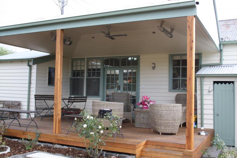 pergola deck pine lining