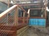 hardwood handrail & stainless steel swaging