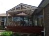 pool verandah deck glass pool fencing