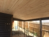 timber lined verandah roof
