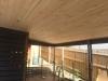 timber lined verandah roof