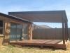 flat roof verandah, deck, rafter shade slats