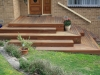decking landing front steps