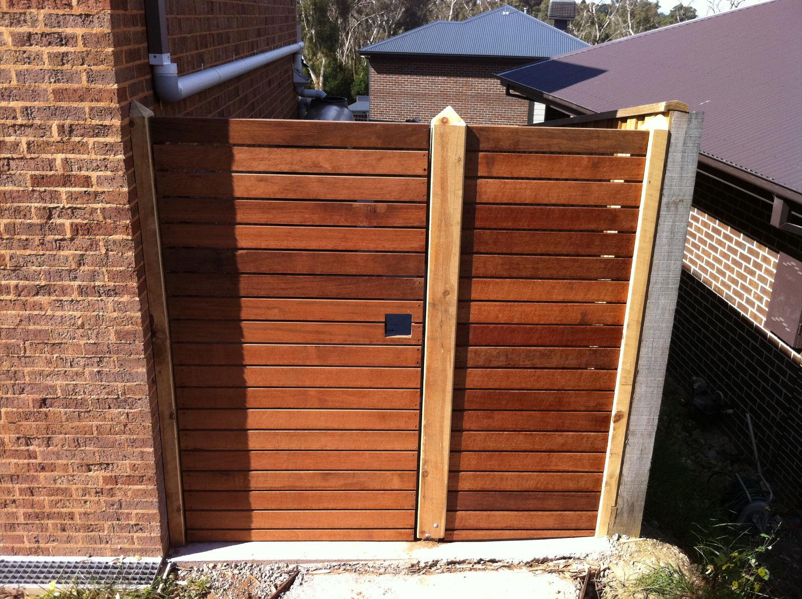 timber slatted gate
