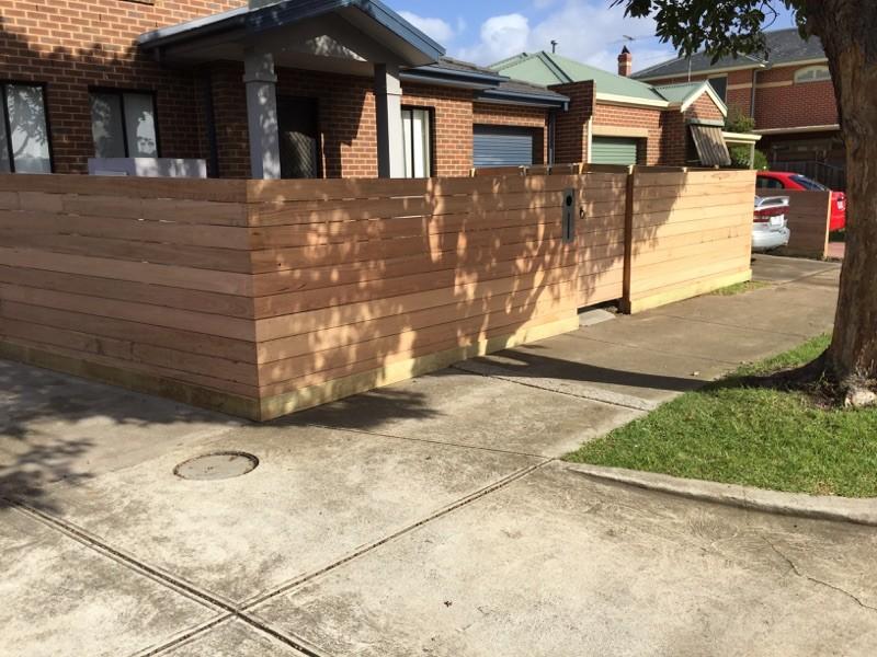 timber fence steel frame gate Sealholme