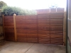 double driveway timber gates