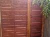 slatted timber side gate