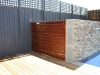 small timber slatted gate