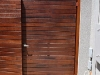 slatted timber gate
