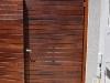 slatted timber gate