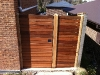 timber slatted gate