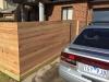 horizonal timber slat fence