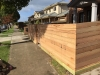 timber slat front fence