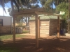 pergola made to look old