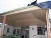 pine lined verandah