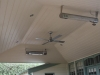 pine lined gable verandah fans heating