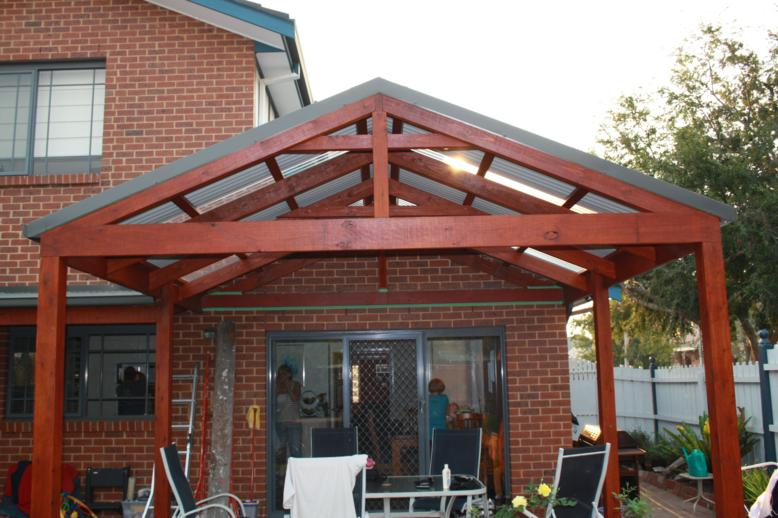 how to build a pitched pergola