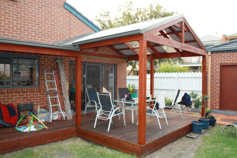 timber gable pergola plans