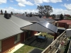 attached roof extenda verandah