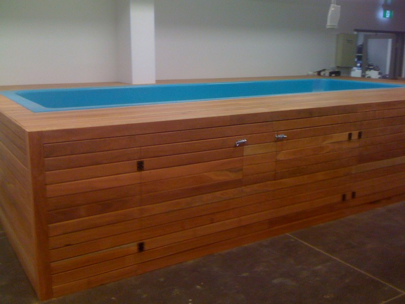spa clad in decking