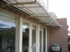 steel awning with polycarbonate