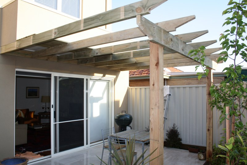 flat roof pergola - Open Pergolas Designs