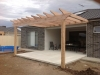 treated pine frame pergola