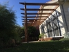 pergola with stainless steel wire