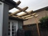 double rafter feature pergola