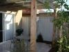 pergola with timber slats