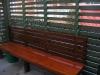 pergola seat stained