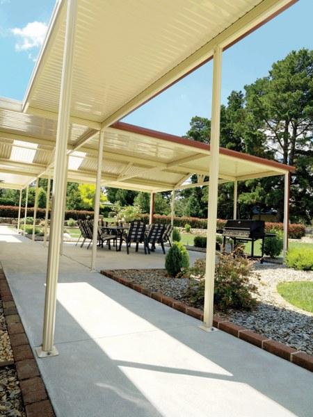 stratco outback gable sunroof verandah