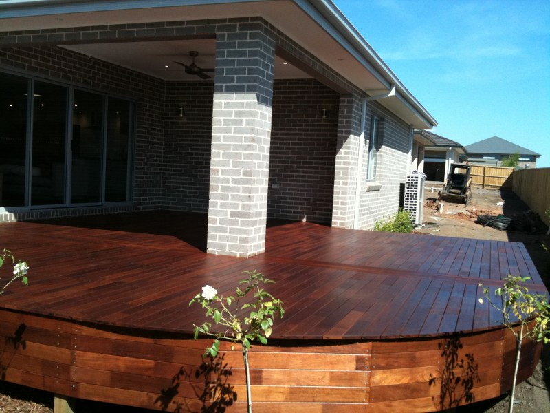 rounded corner deck