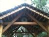raw timber pergola